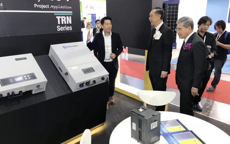 Trannergy Exhibits at Renewable Energy Asia 2017, Appreciated by Thailand's Energy Minister